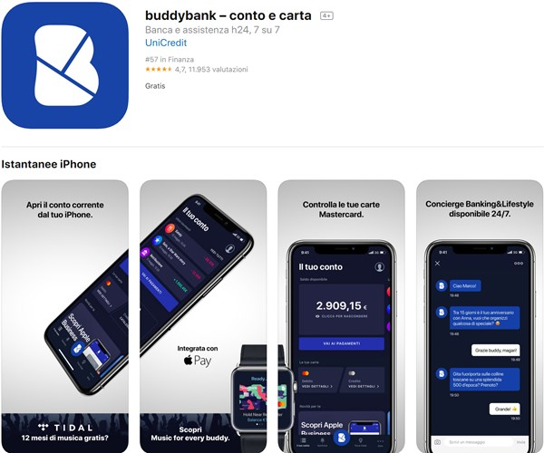 app buddybank app store