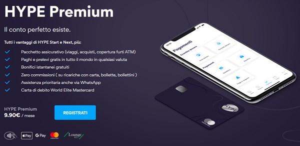 caratteristiche hype premium