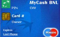 Carta MyCash BNL