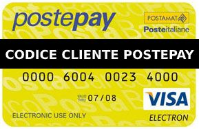 Codice cliente Postepay