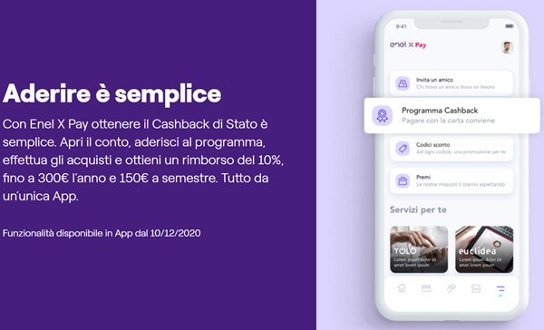 enel x pay cashback