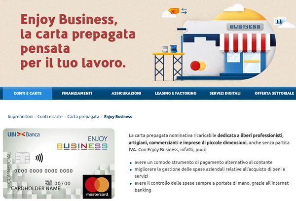 enjoy business prepagata per aziende e autonomi