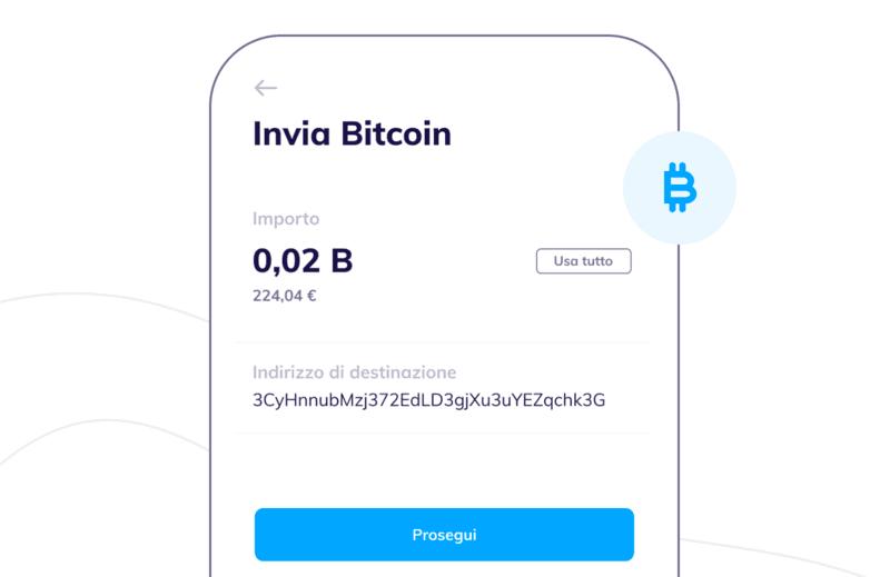 Inviare Bitcoin con Hype
