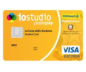 Carta prepagata IoStudio Postepay