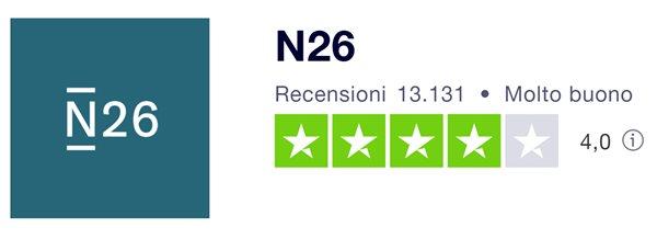 n26 recensioni molto buono