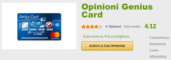 opinioni genius card sito opinioni.it