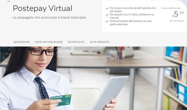 postepay virtual aziendale