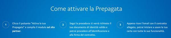 procedura attivazione carta paypal