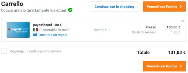 ricarica paysafecard online sito dundle step 2