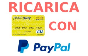 Ricarica Postepay con PayPal