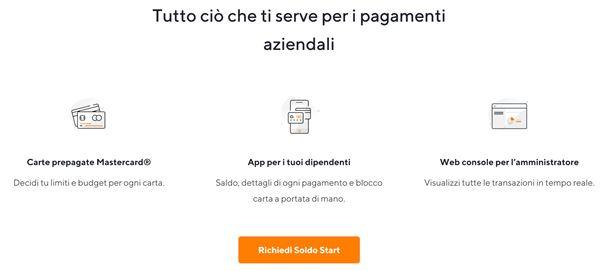 richiesta soldo start online