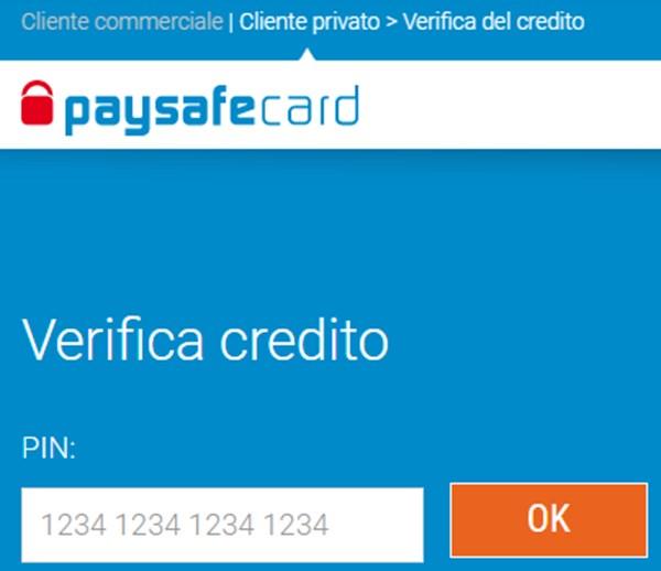 verifica credito paysafecard