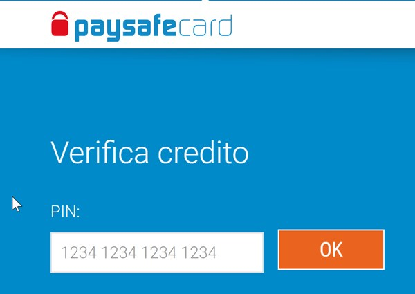 verifica online del saldo paysafecard